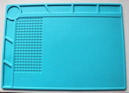 Работна Синя силиконова подложка за винтчета / 35cm 25cm топлоустойчива