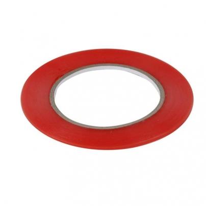 Двойно залепваща лепенка 1mm / червена /