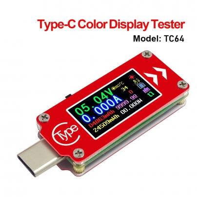 Тестер за зарядно и батерия Type-C TC64