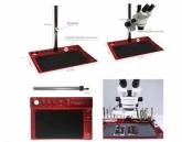 Алуминиева стойка за микроскоп 416x290x15 mm / Черен