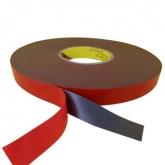 """Двойно залепваща лепенка 0.5mm/ 2mm за тъч скрийн """" 3M """" /Червена/"""
