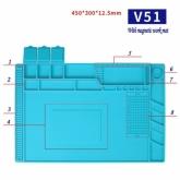 Силиконова антистатична, топлоустойчива, магнитна подложка MECHANIC V51 / 455*300mm