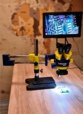 Видео Микроскоп Mechanic MC75T+Стойка L2