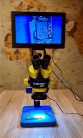 Видео Микроскоп Mechanic MC75T+Стойка B6